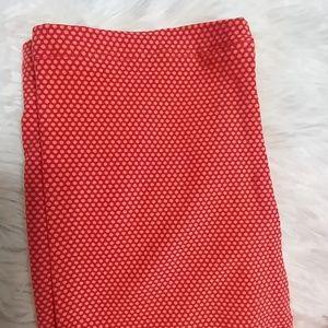 LuLaRoe Pants - LuLaRoe Orange Polkadot Leggings TC 12-18